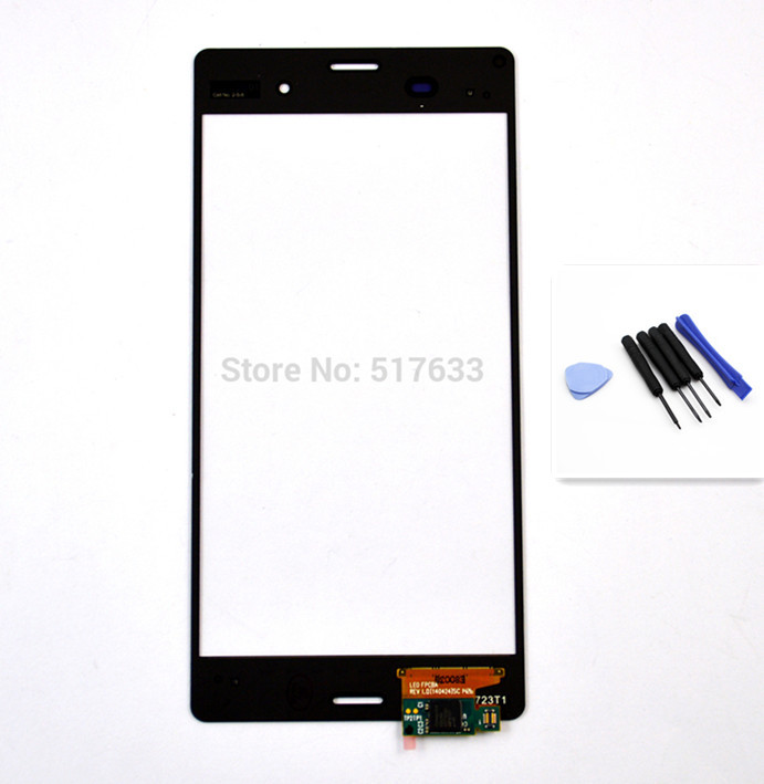 For Sony Xperia Z3 D6603 Digitizer Touch Screen Panel Glass +Free Tools Black ,free shipping+track code