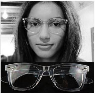 new fashion transparent frame glasses rivets nail eyeglasses plastic eyewear wholesale