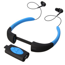 Best IPX8 Waterproof MP3 Player Headset Swimming Surfing SPA Diving Sports MP3 Player Built in 4GB Memory(China (Mainland))