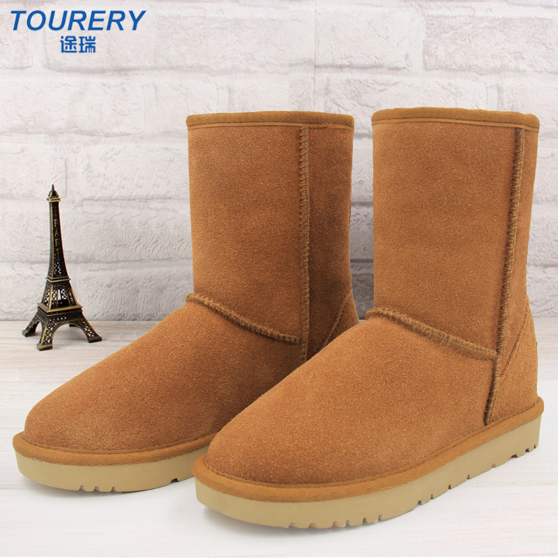 women Snow Boots High Quality Women middle Boots Genuine Leather Winter Shoes Botas Femininas <br><br>Aliexpress