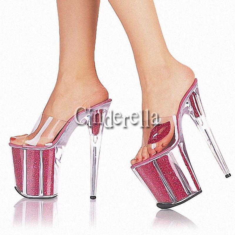 6 inch slippers platforms open toe 20cm