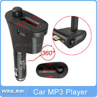 On Sale! 2015 New Green/Red Kit Transmitter Car MP3 Player Wireless FM Transmitter Modulator USB SD MMC LCD
