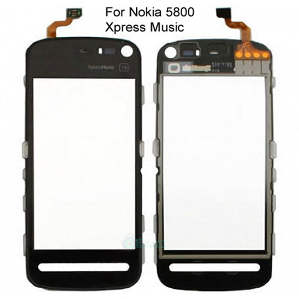 Free shipping FOR NOKIA 5800 XPRESS MUSIC LCD TOUCH SCREEN DIGITIZER LENS GLASS DISPLAY BLACK(China (Mainland))