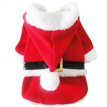 Buy 2015 New Santa Claus Dog Costume Christmas Pet Jacket Winter Hoodie Coat Clothes Dogs Chihuahua Pet Clothing for $8.64 in AliExpress store
