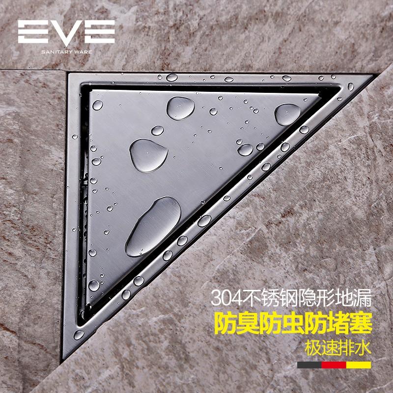 Фотография 304 stainless steel corner triangle floor drain anti-odor antiperspirant floor drain
