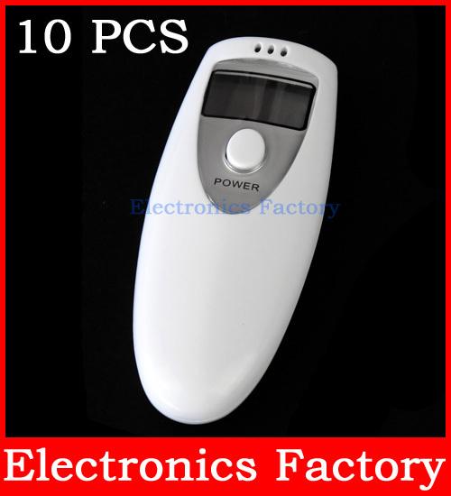 10PCS Gadgets Meter LCD Digital Analyzert Alcohol Accurate Breath Tester Analyzer Breathalyzer Detector Test Testing(China (Mainland))