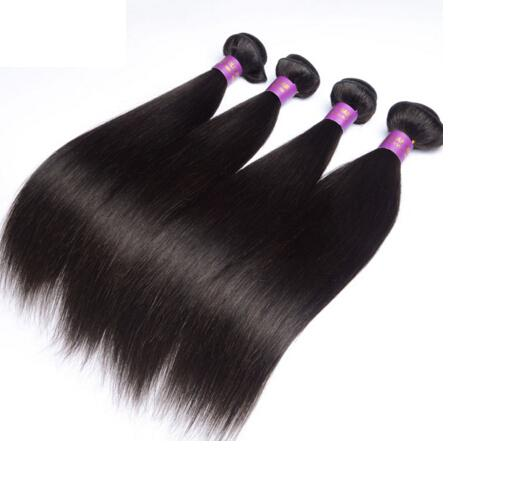 Unprocessed Brazilian Straight Hair Extension 3PCS /LOT Wholesale Brazilian Hair 12-28 Wefts Natural Black<br><br>Aliexpress