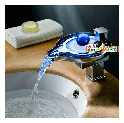 Free shipping kitchen sink bathroom basin glass glowing Temperature sensitive glass