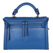 6 Color Genuine Leather Women Handbag Oil Wax Cowhide Double Zipper Tablet PC Pocket Classic Women Messenger Bags Handbag Female(China (Mainland))