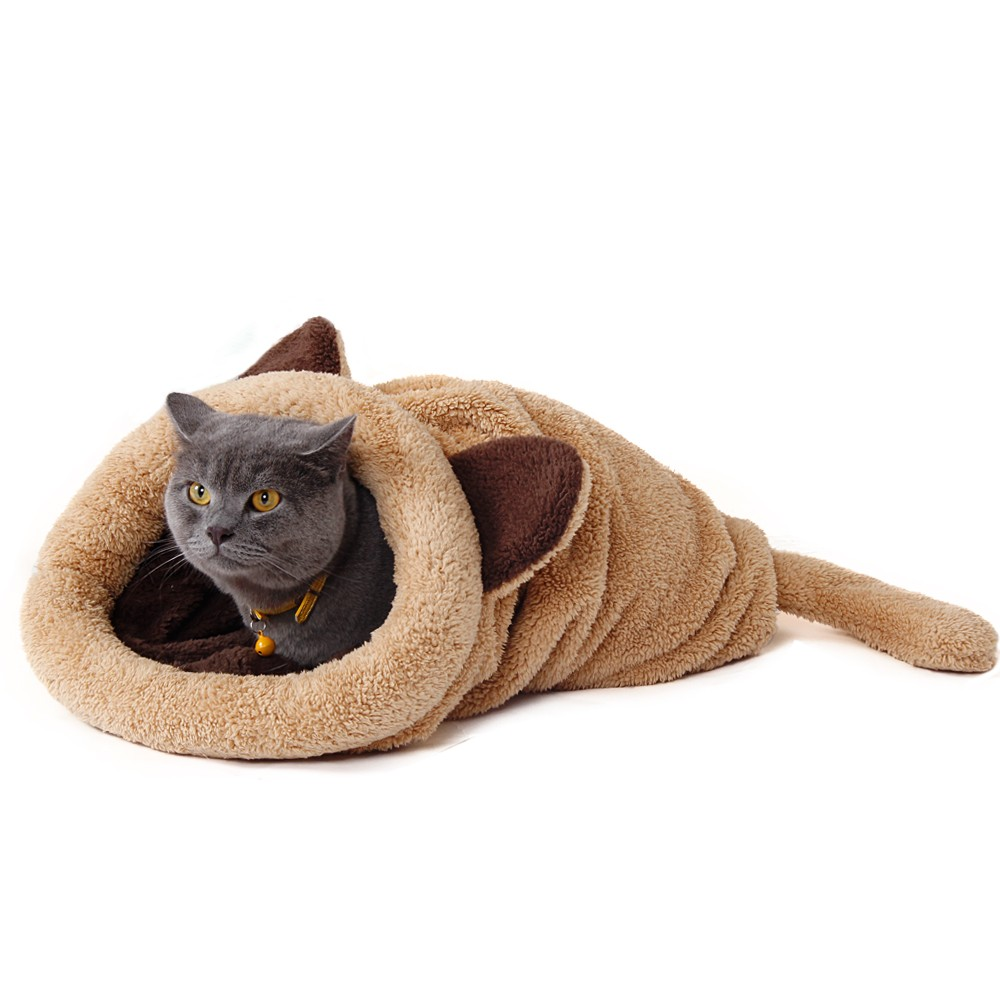 Cute Cat Sleeping Bag Warm Dog Cat Bed Pet Dog House