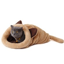 Cute Cat Sleeping Bag Warm Dog Cat Bed Pet Dog House Lovely Soft Pet Cat Mat Cushion High Quality Products Lovely Design(China (Mainland))