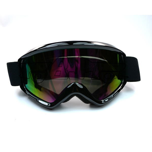 BJ-MG-015A Black Color Reflective Lens  Flexible Adult Motorcycle Protective Gears Motocross MX  Goggles Glasses<br><br>Aliexpress