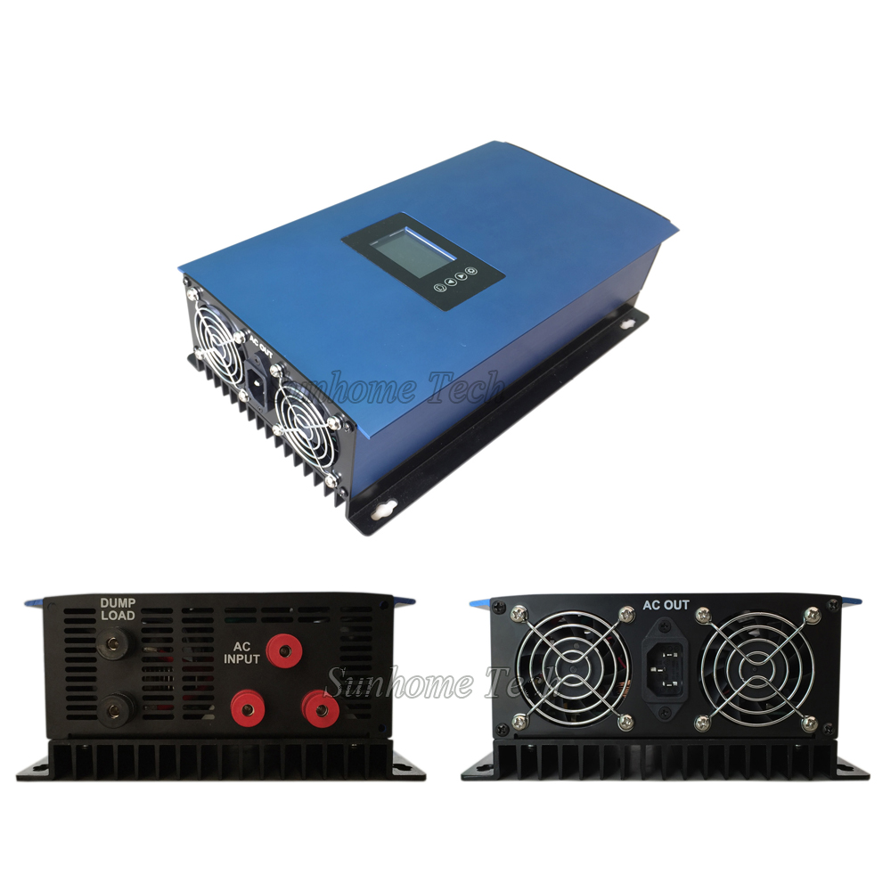 2000W wind grid tie inverter for 3 phase AC wind turbine generator MPPT Pure Sine Wave with LCD&Dump Load resistor,45-90V(China (Mainland))