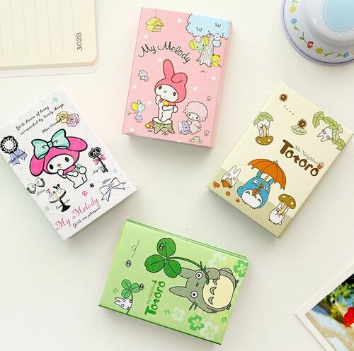 Kawaii Тоторо & Мелодия 6 Складной Memo Pad Sticky Notes Memo Блокнот Закладка Подарок Канцелярские