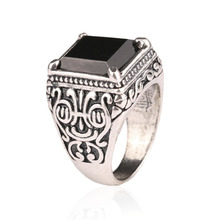 Men Jewelry Punk Engagement Artigos de Festa Vintage Sterling Silver Rings King Momentum quality assurance