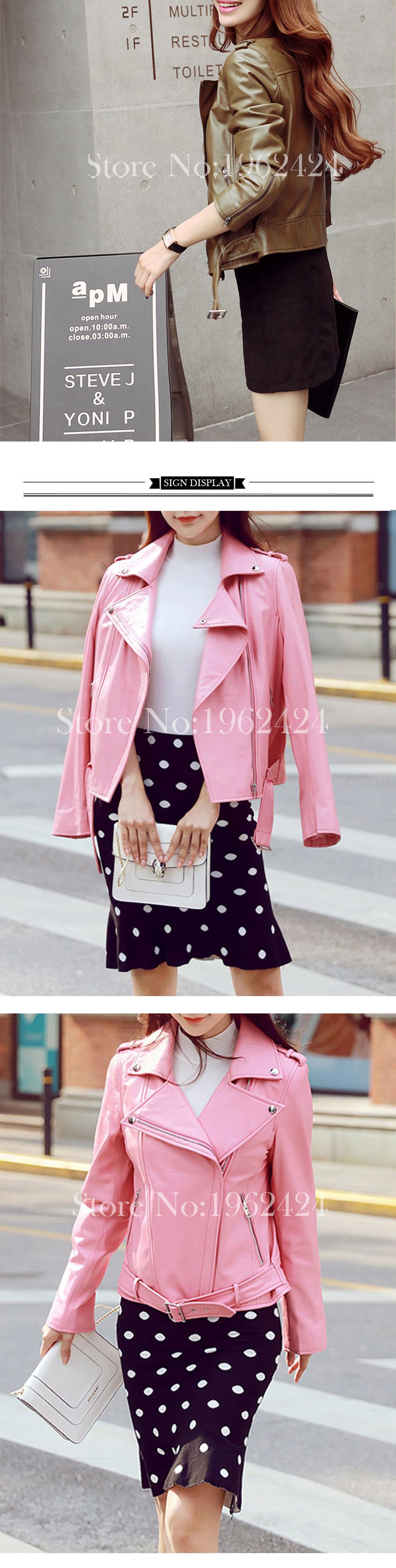 Free shipping 2016 new autumn fashion women high quality sheep skin lapel leather motorcycle jacket short paragraph Slim&XXL