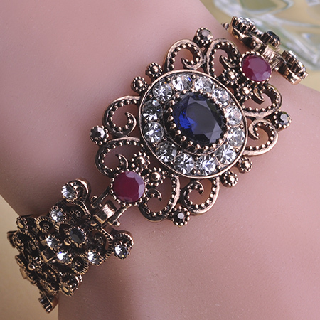 Newest Hollow Flower Sculpture Bracelet Bangle Mysterious Retro Turkish Jewelry Antique Gold Plated Trendy Pulseras Pulseira kit(China (Mainland))