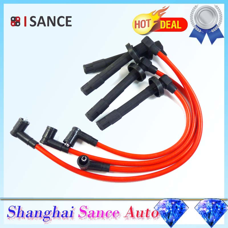 ISANCE Ignition Spark Plug Wire Cable Set D15 D16 10.2mm For Honda Civic DX LX CX EX SI 1.5L & 1.6L 1992 1993 1994 1995(China (Mainland))