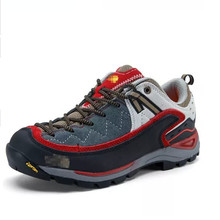 2016 Men Rubber Lace-up Genuine Leather Rubber Genuine Leather Hiking Shoes Climbing Outdoor Trekking Shoes Sneakers