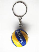2018 deporte playa voleibol PVC llavero llaveros cadena anillo Fútbol Playa bola llavero regalos hombres joyería llavero llaveros(China)