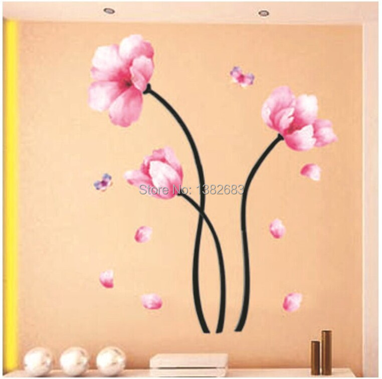 Free shipping PVC DIY Living room bedroom TV background Hangings Decals Wallpaper Decoration Wall Stickers TC927(China (Mainland))