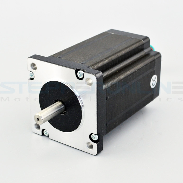 Nema 24 dual shaft cnc stepper motor 3 1nm 439 4 for Double shaft stepper motor