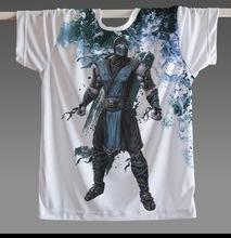 Famous Game Mortal Kombat Scorpion Subzero Men T Shirt Short Sleeve Male T-shirt Round Neck Top CLASSIC Man Fadeless Game Shirts