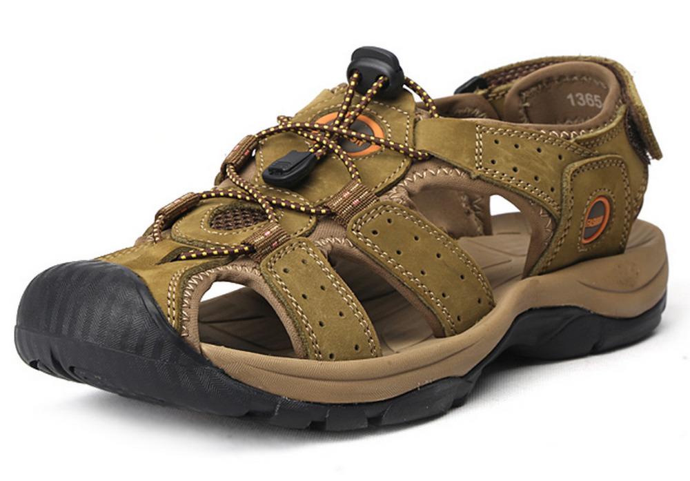 39-47 Plus Size Men Sandals Genuine Leather Fashion Summer Shoes Men Slippers Big Size Men's Sandalias New Soft Leather 2015(China (Mainland))
