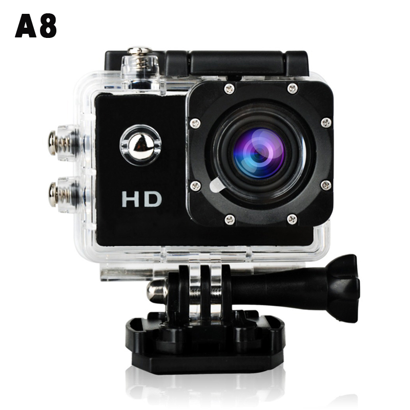 "A8 Waterproof Sports Camera 30m Under Water 5MP 720P HD Mini 1.5"" DV Cam Camcorder Action Video Recorder for Gopro Style 2015(China (Mainland))"