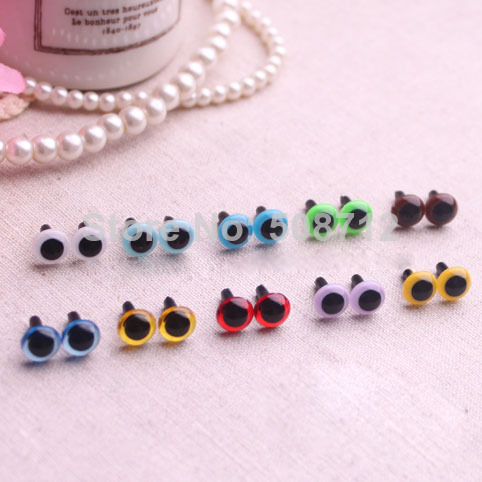 7.5mm -50 Pairs - mixcolor - Colored Safety Eyes / Plastic ...