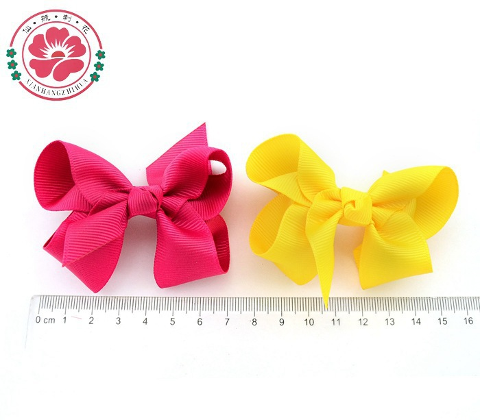 Free Shipping Lovyly Cute Grosgrain Ribbon Bow Hair Clip in Flower Baby Girl Headdress Accessories Multicolor LH100(China (Mainland))