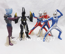 Japanese pop Anime Ultraman action figures 5pcs/set Christmas Gifts for children