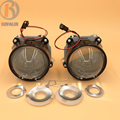 3 0 Bi Xenon HID H1 Projector Headlights Lens LHD RHD Plastic Holder Clear Lens for