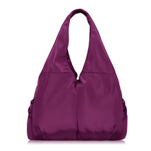 Women Handbag Casual Large Shoulder Bag Fashion Nylon Big Capacity Tote Luxury Brand Design Purple Bags Waterproof bolsas XA287H(China (Mainland))