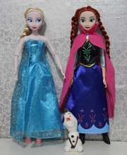 4Boxes/lot NEW Original Frozen Joints Play Set Princess Anna Elsa Snowman OLA Box Action Toy Elsa Snow Queen Doll Excellent Gift