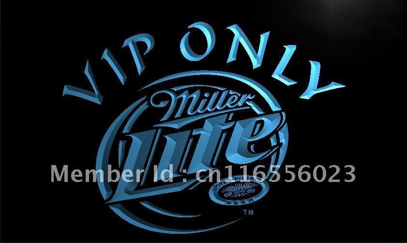 LA405- Miller Lite VIP Only Beer LED Neon Light Sign home decor crafts(China (Mainland))