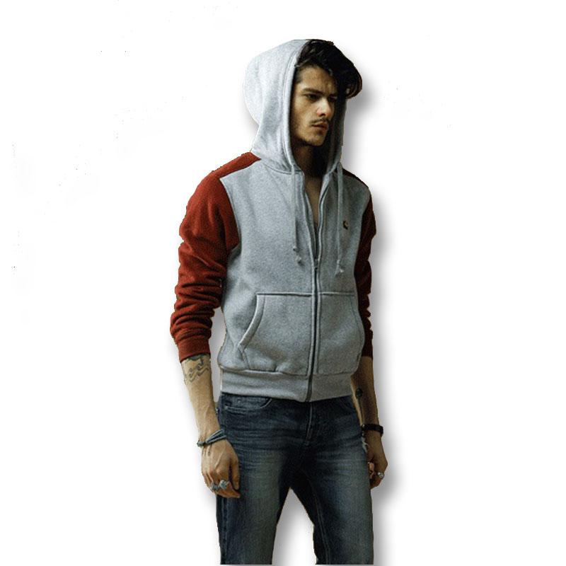 2016 Men Hooded Jackets Sweatshirts Cardigans Men's Casual Fashion Slim Fit Large Size Men Zipper Jackets Hoodies Sweatshirts