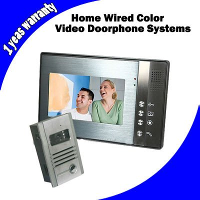 Home Security 7 inch LCD Screen Wired Color Video Door phone bell Intercom System KIT(China (Mainland))