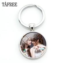 TAFREE модные Kpop Gfriend Art Picture Брелки металл серебристого цвета брелки для ключей ключи от машины карабин для ключей GF64(China)