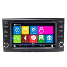 2016 Новый 2 DIN Автомобиль DVD GPS Navigaiton Плеер Радио Стерео MP3 CD Камера Заднего Вида HD С Сенсорным Экраном Радио Свободная Карта Bluetooth