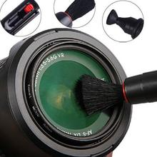 New hot selling Black Lens Clean Pen 3 in 1 Kit Dust Cleaner For DSLR VCR Camera Free shipping