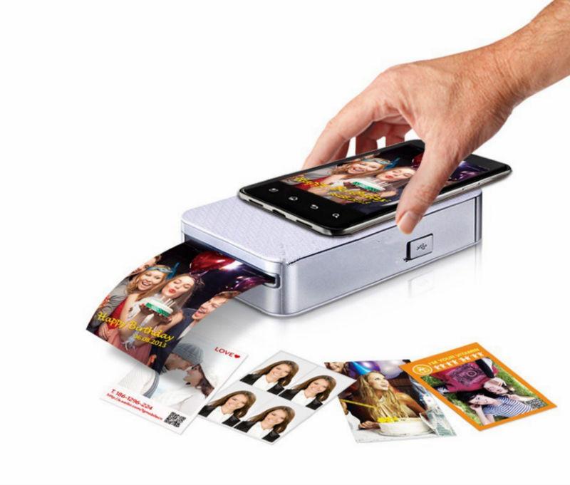 Pocket with printer (Polaroid mobile / cell phone photo printer / mobile portable printers) Silver(China (Mainland))