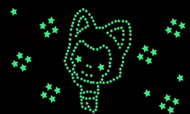 Hot sale new Luminous stars 3d wall stickers home decor living room wall stickers for kids rooms Special gift