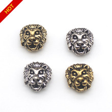 10pcs/lot  Leone Lion Head Beads Spacer Bead Metal Charms for Jewelry DIY Making