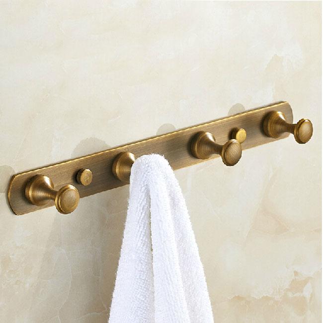 Wall Mounted Bathroom Towel Hooks Antique Brass Towel Hanger Freeshipping(China (Mainland))