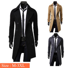 Mens Trench Coat 2016 New Fashion Designer Men Long Coat Autumn Winter Double-breasted Windproof Slim Trench Coat Men Plus Size(China (Mainland))