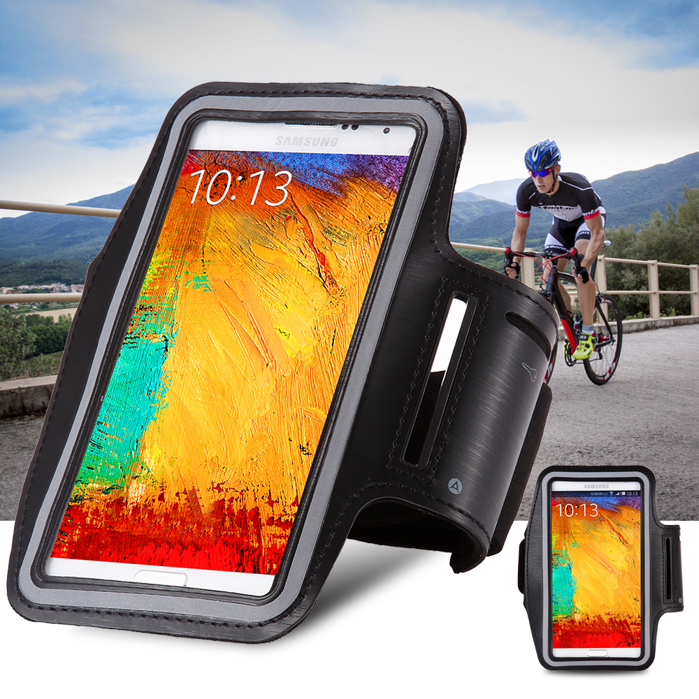 Waterproof Genernal Style Leather Arm Band Case For Samsung Galaxy Note 4 3 2/S5/S6/S4/S3/S6 Edge/S7/S7 Edge Running Sport Cover(China (Mainland))