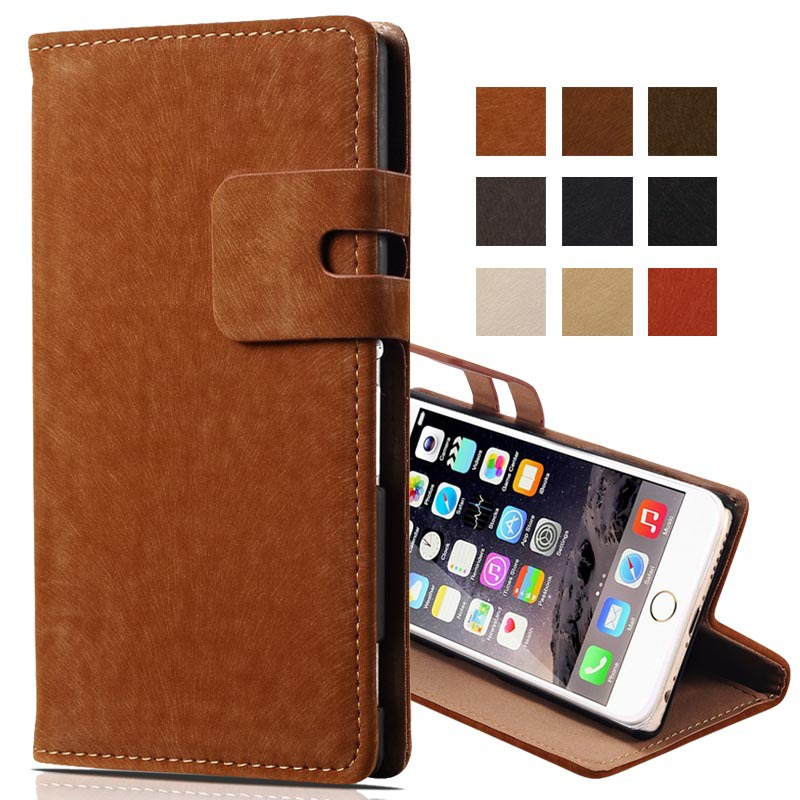 Soft Feel Classic Stand Leather Case For iPhone 6 4.7 inch For iPhone 6 Plus 5.5 Mobile Phone Bag With Card Slot Flip Cover(China (Mainland))