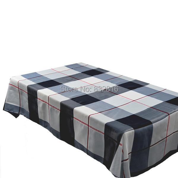 "Cheap Price Polyester Blue Plaid Printed Table Cover Hotel Dining Table Cloth Home Tablecloths 52X70""(China (Mainland))"