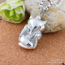 Серебряные ювелирные изделия оптовая продажа 925 серебряные ювелирные изделия мода милый свитер леди фокс для персика подвеска 45881(China (Mainland))